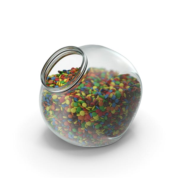 Thumbnail for Spherical Jar with Colored Chocolate Buttons