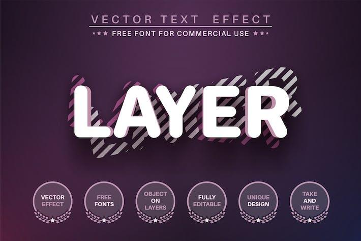 3D слой - редактируемый текстовый эффект, стиль шрифта