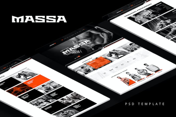 Thumbnail for Massa — Fitness/Gym/Sports Blog PSD Template