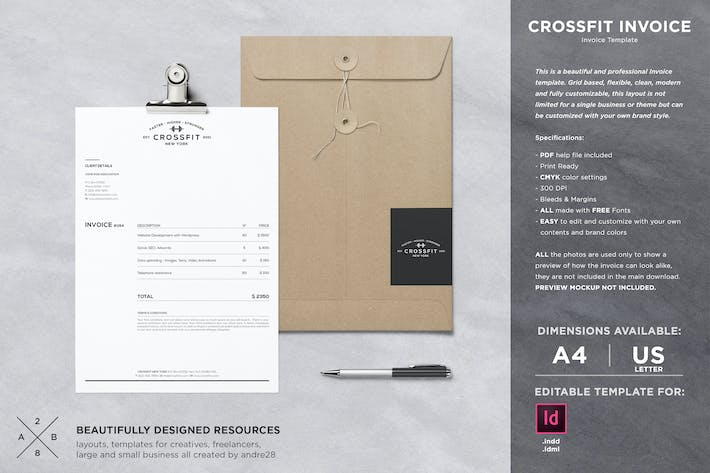 Thumbnail for Crossfit Invoice Template