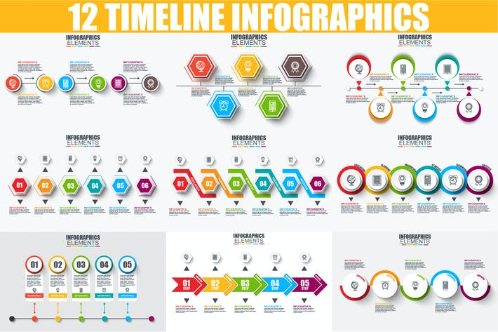 Thumbnail for Timeline Infographics