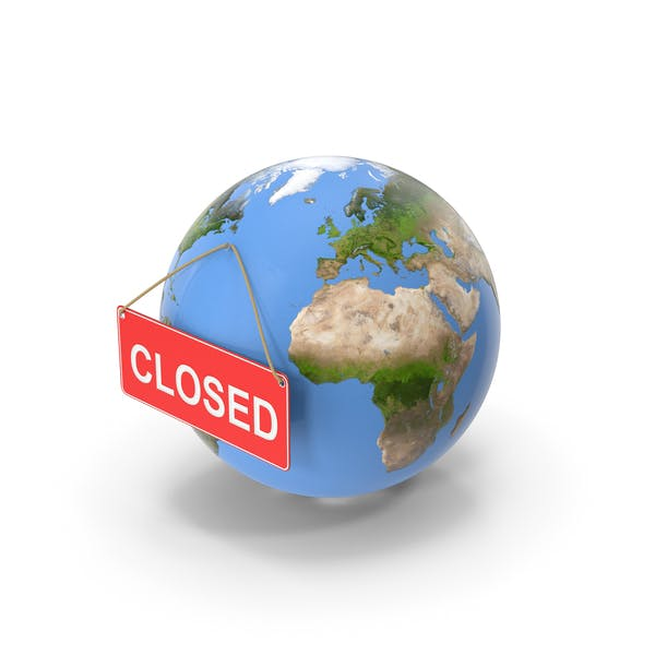 Earth Stylized with Sign Closed