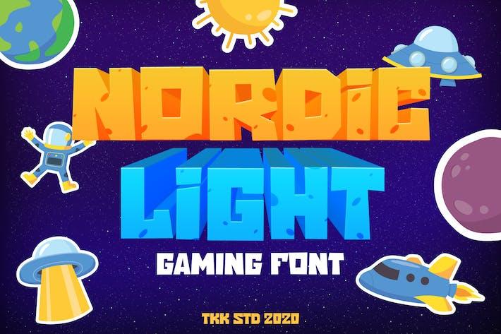 Thumbnail for Nordic Light - Gaming Font