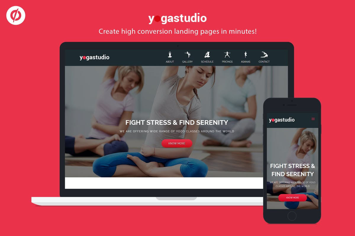 Download Yoga Studio - Unbounce Landing Page Template by ILMThemes by Unknow