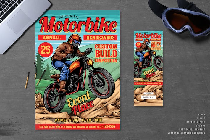 Thumbnail for Dirt Bike Motorcycle Flyer