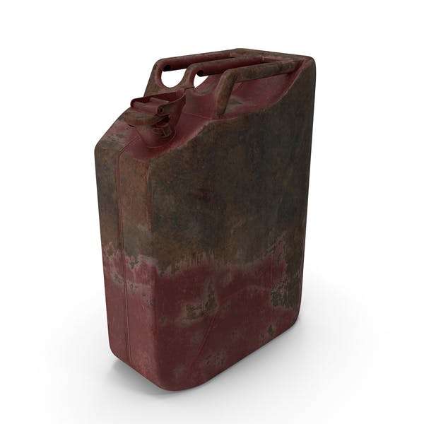Canister Rusted Red