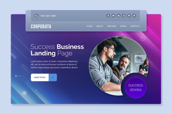 Thumbnail for Corporate - Landing page Hero Banner