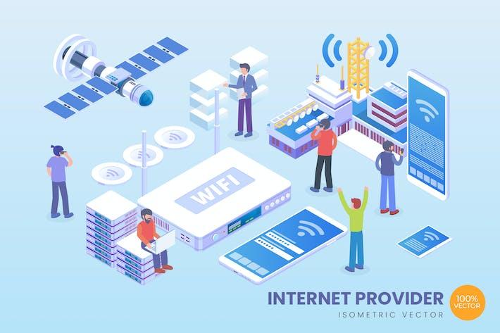 Thumbnail for Isometrischer Internetanbieter Vektor konzept