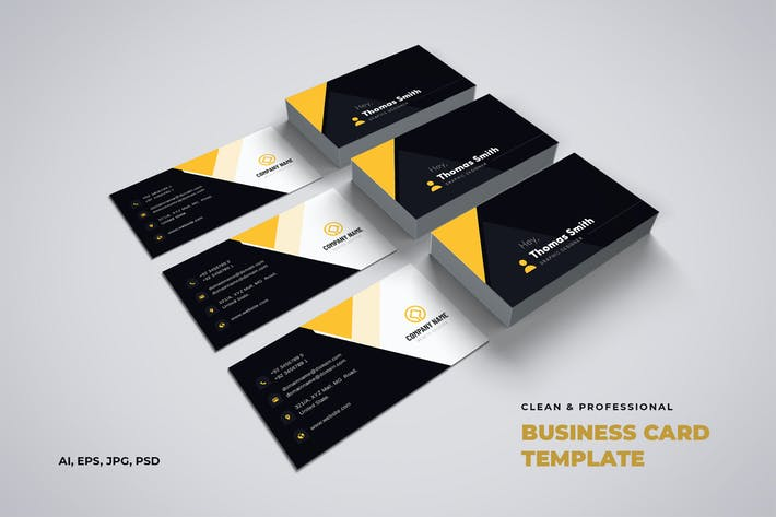 Thumbnail for Clean & Professional Business Card Template