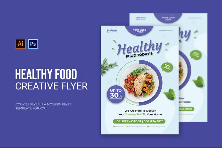 Thumbnail for Healthy Food heute - Flyer