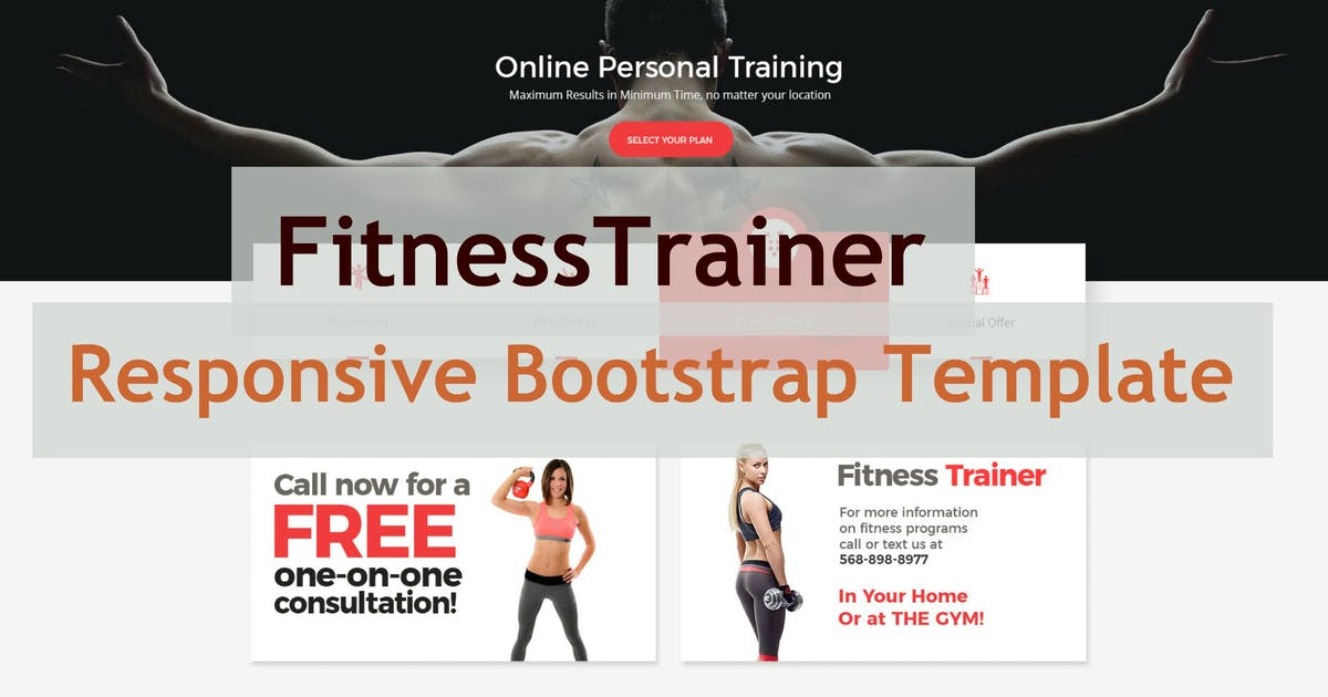 Download FitnessTrainer - Responsive Bootstrap Template by e-plugins