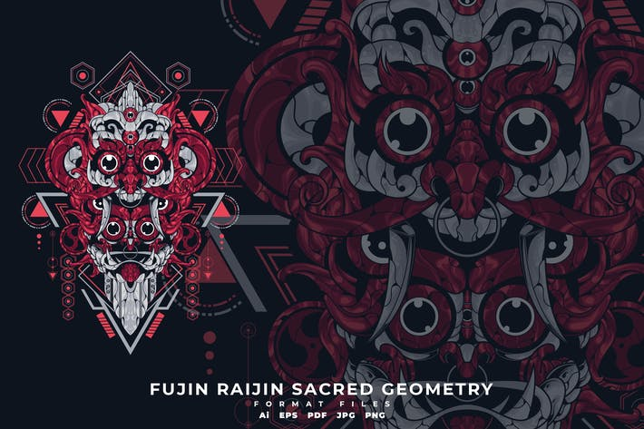 Thumbnail for FUJIN RAIJIN SACRED GEOMETRY
