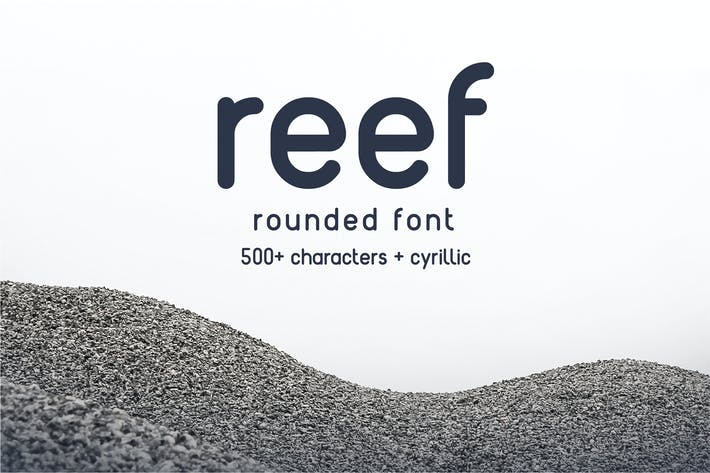 Thumbnail for Reef - Round Font