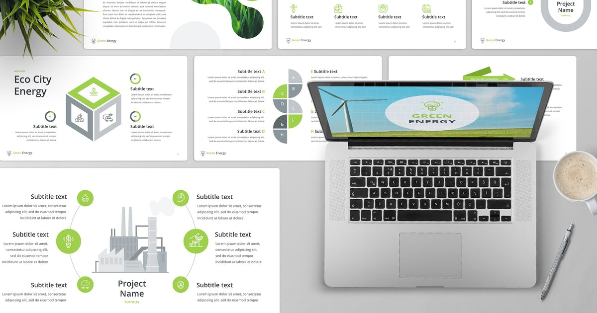 Download Green Energy PowerPoint Template by Unknow