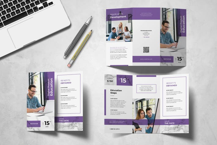 Cover Image For Education Trifold Brochure