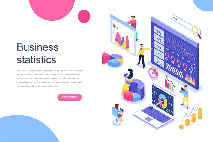 Thumbnail for Business Statistic Isometric Concept