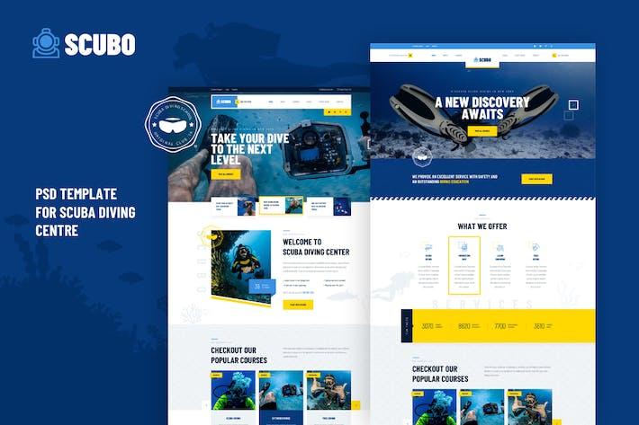 Thumbnail for Scubo - PSD Template For Scuba Diving Centre