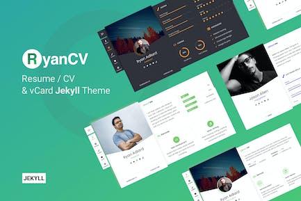 RyanCV - Resume/CV & vCard Jekyll Theme