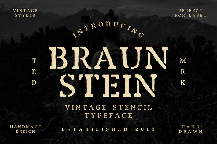 Thumbnail for Braunstein Font