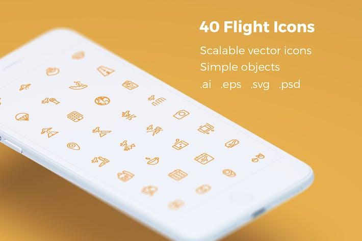 Забронировать Ваш рейс - векторные значки