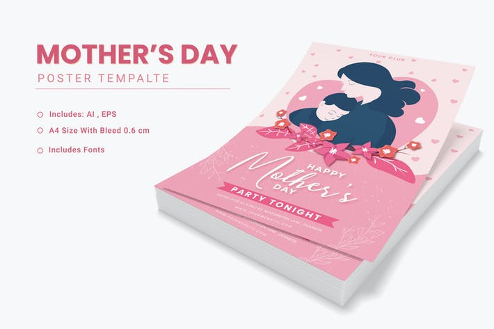 Mothers Day Mommy Template