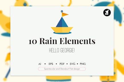 10 Elemente der Regenzeit