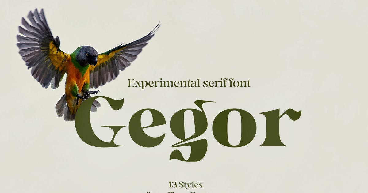 Download Gegor | Serif Display Font by Balibilly_Design