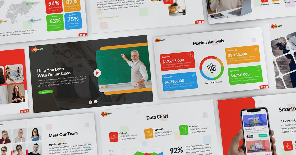 Download Classroom - Education Powerpoint Template by SlideFactory