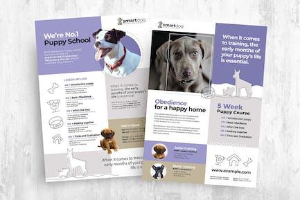 Puppy School Flyer & Brochure Templates Bundle