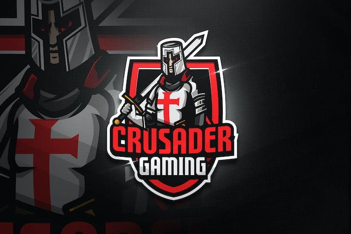 Thumbnail for Crusader Gaming - Mascot & Esport Logo