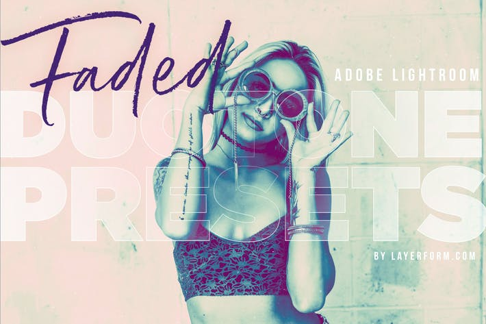 Thumbnail for 20 Faded Duotone Lightroom Presets