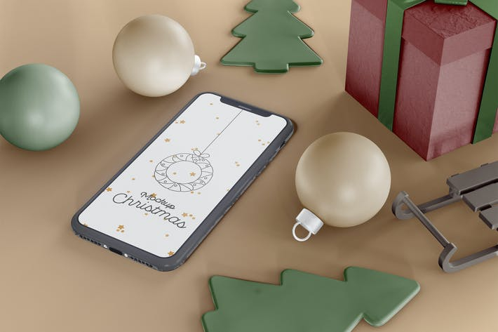Weihnachts-Mockup