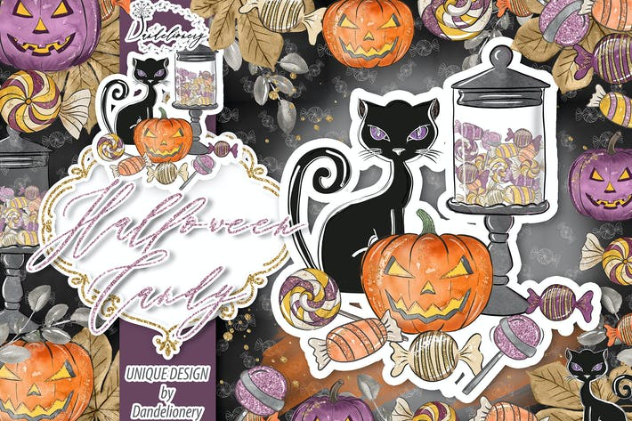 Thumbnail for Halloween Candy design