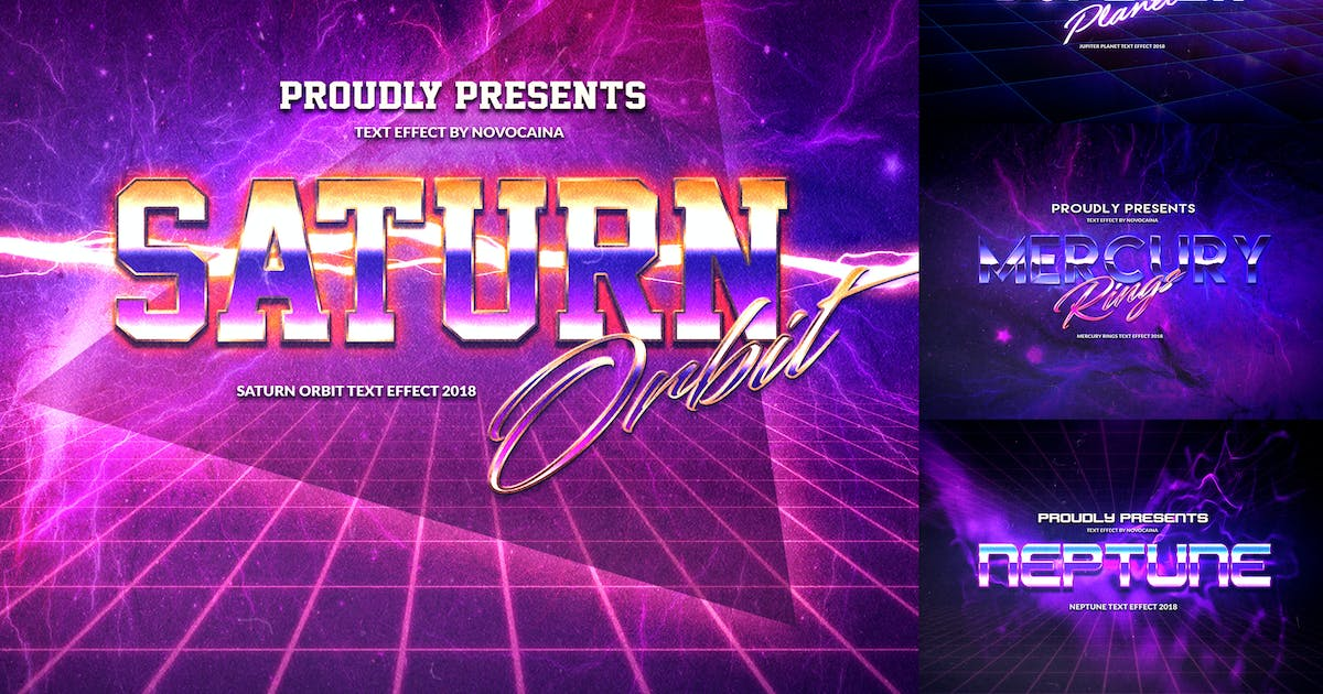 Download Retro Planet Text Effects by Novocaina
