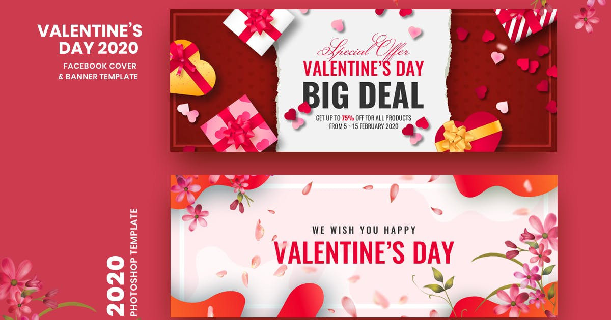 Download Valentine Facebook Cover & Banner Template by Last40