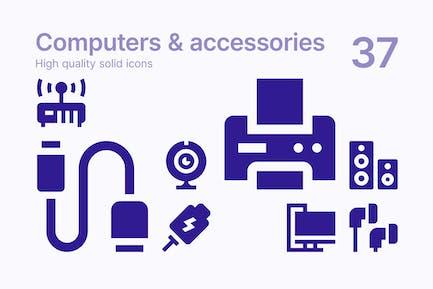 Computer und Zubehör Icons