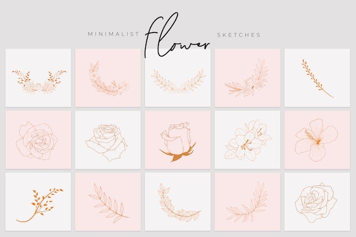 Minimalist Flower Sketch