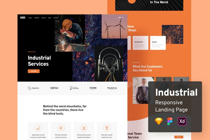 Thumbnail for Industrial Responsive Landing Page