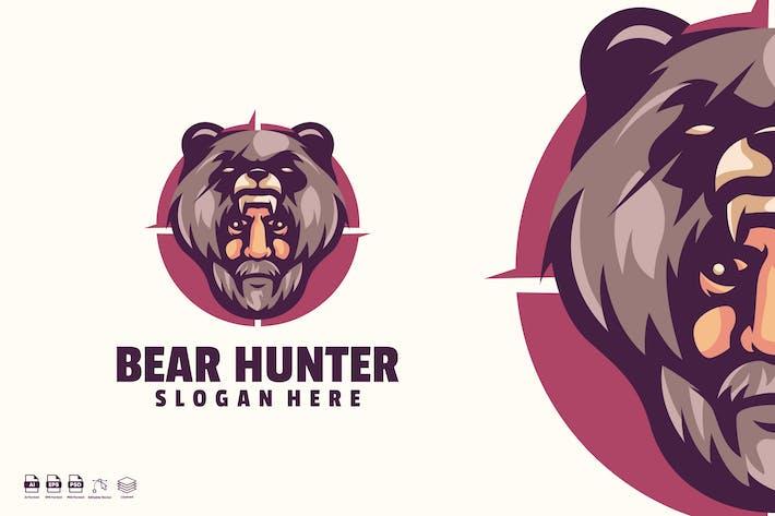 Thumbnail for Bear Hunter Logo Template