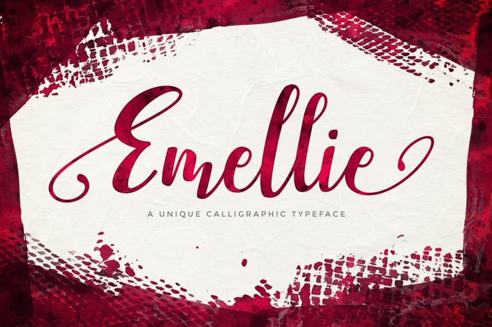 Cover Image For Emellie Script Font