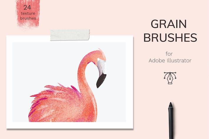 Thumbnail for Vector grain brushes - Illustrator