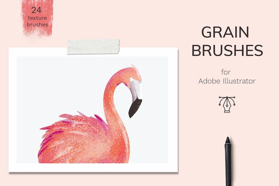 Vector grain brushes - Illustrator
