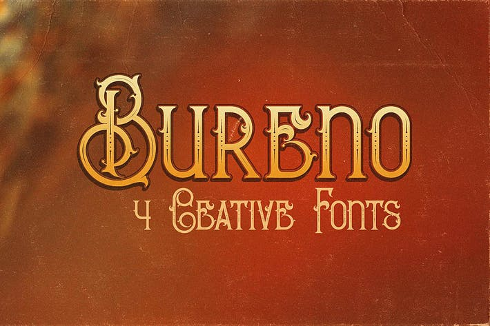 Thumbnail for Bureno - Decorative Font