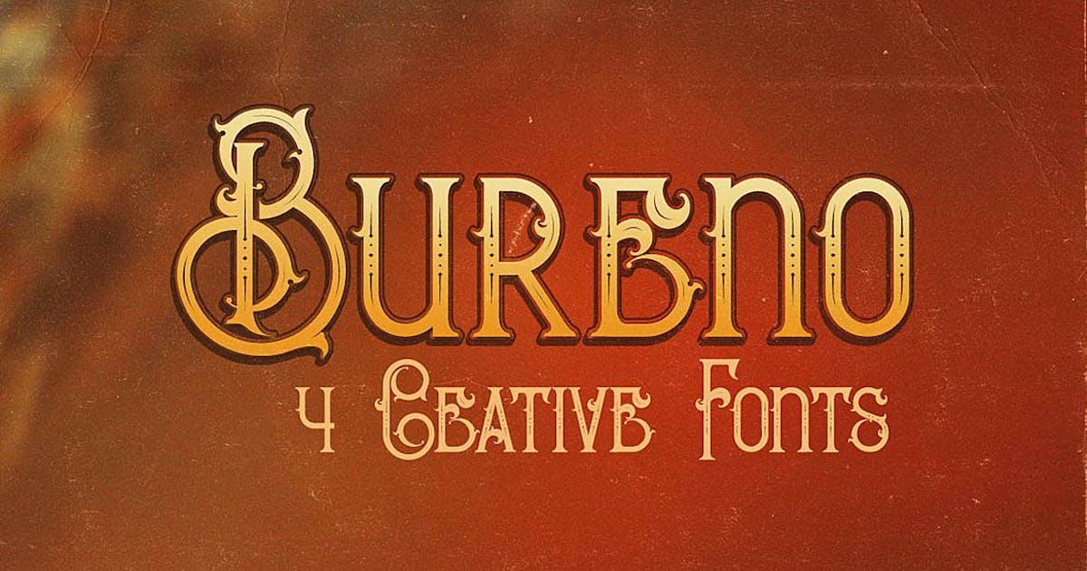 Download Bureno - Decorative Font by cruzine