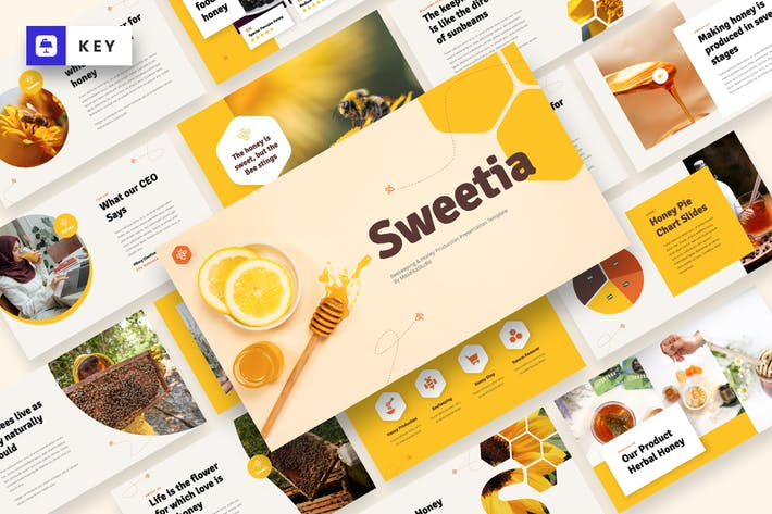 Thumbnail for Sweetia - Пчеловодство и Keynote шаблон