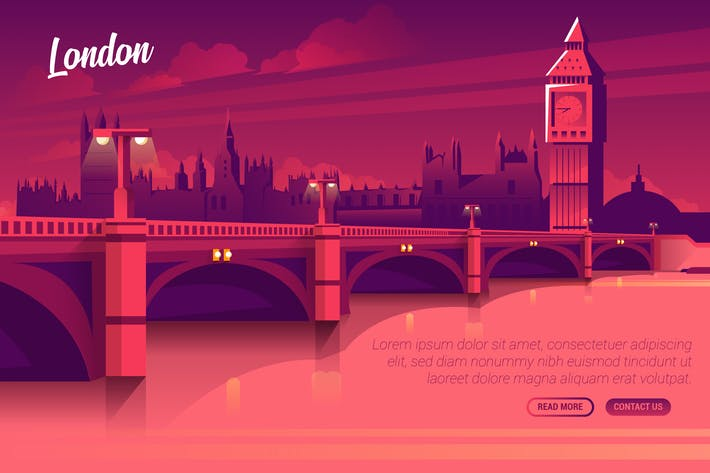 Thumbnail for London - Vector Landscape & Building