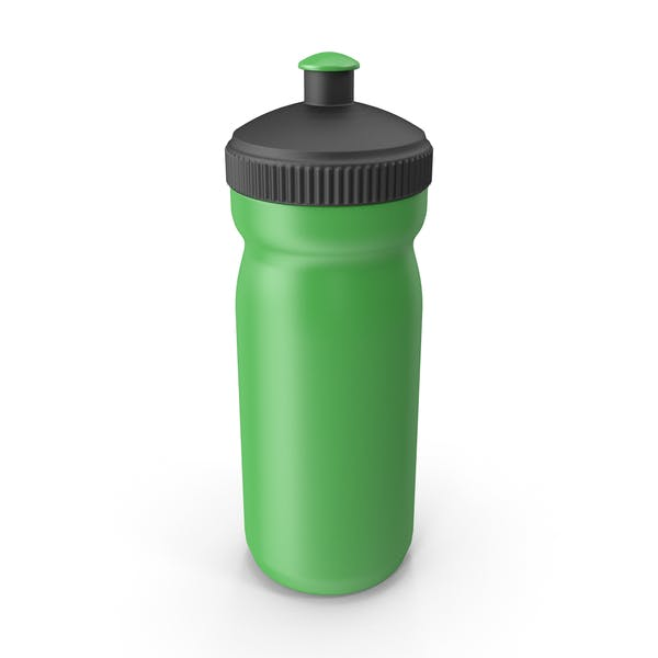 Green Sport Bottle with Black Cap