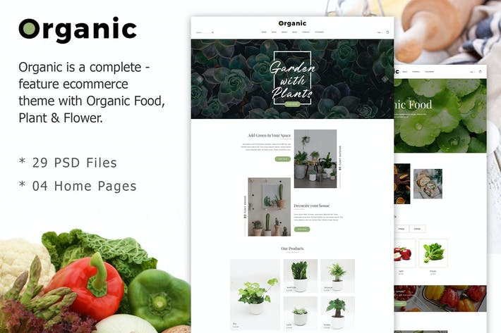 Thumbnail for Organic - Responsive Organic Food & Store Template