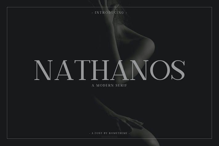 Thumbnail for Nathanos - Serif Typeface