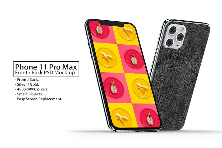 Thumbnail for Phone 11 Front & Back PSD Mock-up